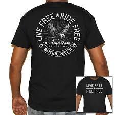 <b>Live Free</b> • <b>Ride Free</b> T-Shirt – Biker Life Clothing