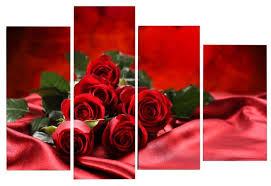 <b>Модульная картина</b> KARTINA style Алая роза — купить по ...