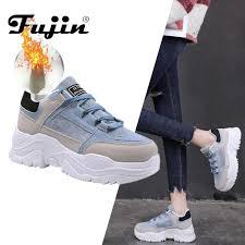 <b>FUJIN</b> Women Casual <b>Sneakers Winter Sneakers</b> Plush Fur Warm ...