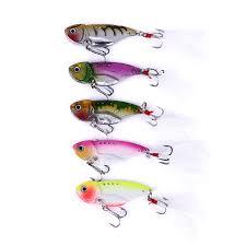 5pcs Lot VIB <b>Fishing Lures 6.5cm</b> 11g Bass Plastic Bait 6# Hooks ...