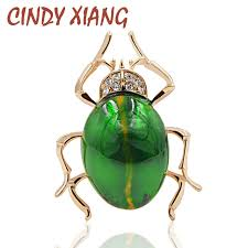 <b>CINDY XIANG</b> Summer <b>New Arrival</b> Enamel Cute Insect Brooches ...
