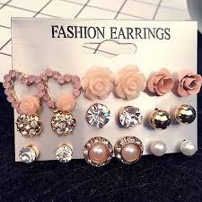 <b>Kolczyki</b> BPDM 8 10 20 pairs/set crystal Stud Earrings fashion ...