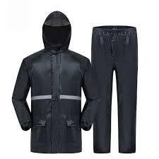2019 Thick Raincoat Split Suit Rain Pants Adult <b>Reflective</b> Bicycle ...