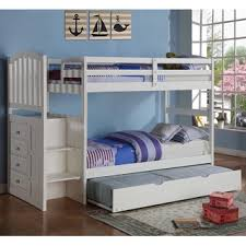 twin full storage step bunk bed with 2 drawers 17665874 overstockcom shopping great deals on kids beds bunk bed desk trundle