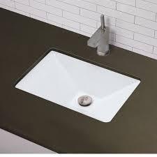 undermounted bathroom sink white