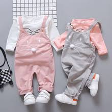 Spring newborn baby <b>girls clothes sets fashion</b> suit T-shirt + pants ...