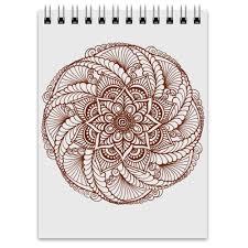 <b>Блокнот</b> Цветок в стиле росписи хной #2582390 от Achadidi ...