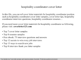 hospitality coordinator cover letterhospitality coordinator cover letter in this file  you can ref cover letter materials for hospitality
