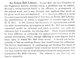remembering vegetarian pioneers henry s salt ernest bell two extracts from our copy of the vegetarian messenger health review 1934