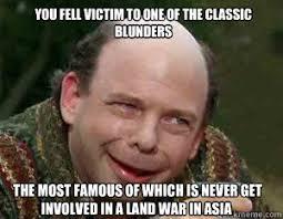 Vizzinis Classic Blunders memes | quickmeme via Relatably.com