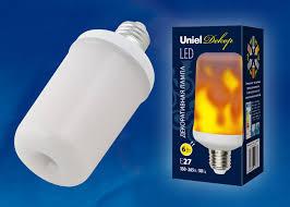 <b>Лампочка Uniel LED-L60-6W/FLAME/E27/FR</b>, Теплый свет, E27, 6 ...