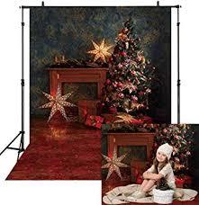 Allenjoy 5x7ft Vinyl Vintage Christmas Tree Backdrop ... - Amazon.com