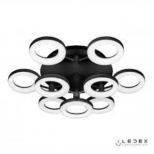 <b>Потолочная люстра iLedex</b> Jomo FS-014-X9 108W BK / <b>iLedex</b>.RU