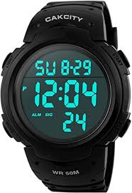 Mens Digital Sports Watch LED Screen Large Face ... - Amazon.com