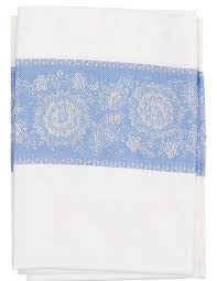 "Набор кухонных <b>полотенец Letto</b> ""Лен"", цвет: белый, синий, 50 х ..."
