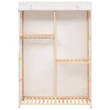 Tidyard <b>3-Tier Clothes Wardrobe</b> Storage Rack 110x40x170 cm ...