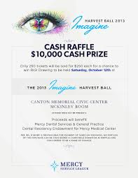 mercy service league fundraiser cash raffle
