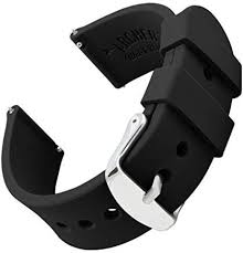 Archer <b>Watch Straps Silicone</b> Quick Release Soft <b>Rubber</b> Watch ...