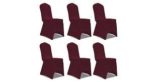 <b>Chair</b> Cover Stretch <b>Burgundy 6 pcs</b> - Matt Blatt
