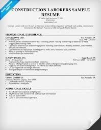 sample construction worker resume template   resume sample information    sample resume  example resume template for construction laborer with professional experience  sample construction worker