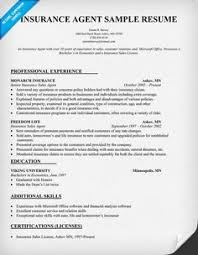 insurance agent resume example   resume examples  resume and writersinsurance agent resume sample