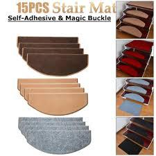 <b>15PCS</b> Stair Tread Carpet Mats Self Adhesive <b>Stair Mat Stair Mat</b> ...