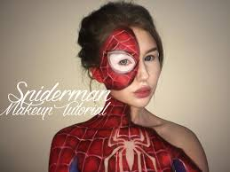 spiderman suit makeup tutorial