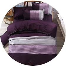 DDDatian Stripe Simple Fashion Design Bedding Set ... - Amazon.com