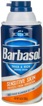 <b>Крем</b>-<b>пена для бритья BARBASOL</b> Shaving Cream Sensitive Skin ...