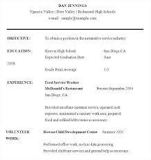sample high school student resume word sample student resume high school
