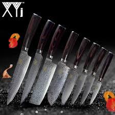 <b>XYj Damascus</b> Kitchen <b>Knives</b> Set Accessories <b>VG10</b> 73 Layer ...