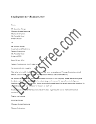 Employment Certification Letter Is Written To Certify A Certain