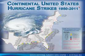 [Map of 1950-2011 CONUS Hurricane Strikes]