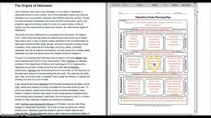 expository essay planning map