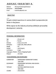Resume For Kfc Job