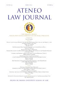 ateneo law journal articles