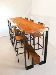 the bar and stools are freestanding so all the lumber can be removed from its metal framing beautiful combination wood metal furniture