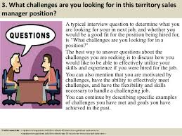 top territory s manager interview questions and answers