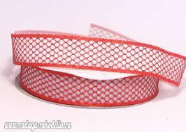 Купить <b>Лента декоративная Сетка</b> люрекс 2-слойная, <b>красная</b>,25 ...