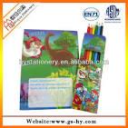 Реклама раскраски с карандашами