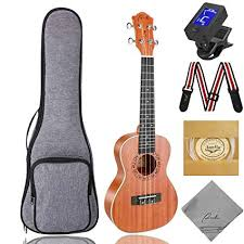 Concert Ukulele Ranch 23 inch Professional Wooden ... - Amazon.com