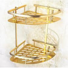 <b>Bathroom Shelf</b> Corner Basket Gold Shower Caddy for Shampoo ...