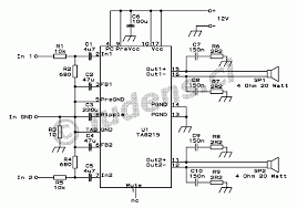 4x15 watt quad audio amplifier here is the complete schematic diagram of one stereo amplifier of course i used two of these for my quad amplifier and if you want you can use three to