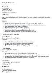 sample nursing student resume nursing student resume must contains relevant skills experience and also educational nursing student resume samples