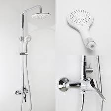 thermostatic brand bathroom:  elegant chrome overhead thermostatic bath shower mixer