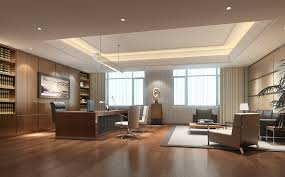 beautiful white brown wood glass luxury design interior office modern windows wood floor table armchairs carpet beautiful office desk glass
