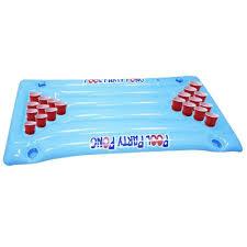 <b>PVC Inflatable</b> Beer Pong Table Mattress Lounge <b>Pool Float</b> 24 Cup ...