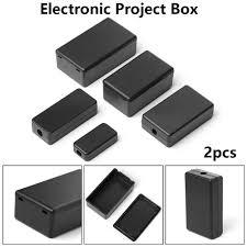 <b>New 2pcs Waterproof</b> Black DIY Housing Instrument Case ABS ...