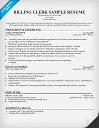 billing clerk resume sample   resume samples across all industries    billing clerk resume sample   resume samples across all industries   pinterest   resume and medical
