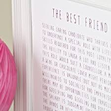 bespoke verse best friend advert poem print indigo blue trading best friend advert poem print